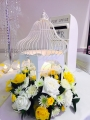 Birdcage with fresh flowers Extra charge for fresh or £25 per table artificial