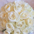White Roses with diamanté pins