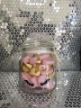 Small sweet jars £1.50 empty or £2.49 with sweets and personalisation